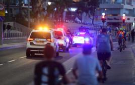 משטרה בדרך לפעילות אכיפה