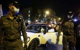 הרכב החשוד בניסיון דריסה בהפגנה בבלפור בירושלים