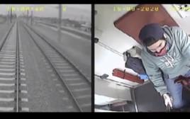 בן 3 ניצל מרכבת ברגע האחרון