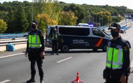 מחסום משטרתי באזור מדריד