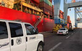 המשטרה חוקרת את החשד לרצח באונייה הזרה