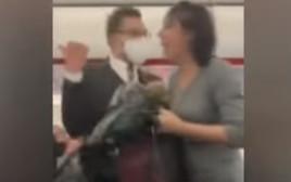 הנוסעת שהשתוללה על המטוס