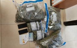 סמים וכספים שנתפסו במבצע המשטרתי בדרום הארץ
