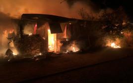 שריפה במפעל במושב מנות
