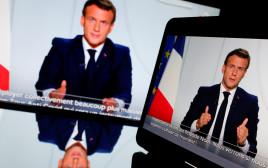 עמנואל מקרון מודיע על הסגר בנאום טלוויזיוני