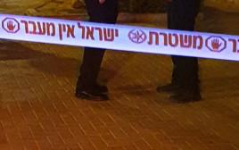 זירת הרצח ברחוב אחינועם בבאר שבע