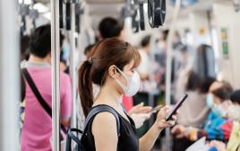 קורונה בתחבורה ציבורית, אילוסטרציה