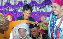 מתוך טקס החתונה של אמפטואן עם בת ה-13