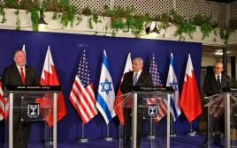 בנימין נתניהו, מייק פומפאו, שר החוץ הבחרייני