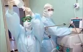 הרופאים בבית החולים ברוסיה מטפלים בנפגעי ההרעלה
