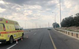 תאונת דרכים סמוך לקרית גת