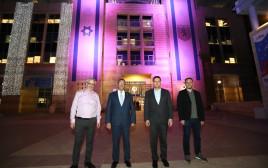 בניין עיריית ירושלים נצבע בסגול