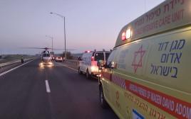 פינוי פצוע בתאונת דרכים