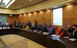 ההצבעה בוועדת הכנסת