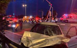 תאונת דרכים בצומת בית דגן