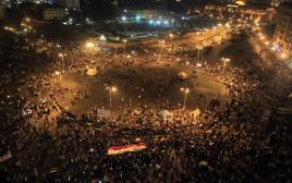 המפגינים בכיכר תחריר בקהיר