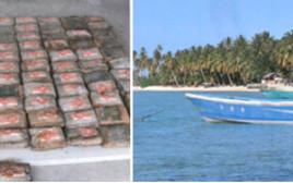 הסירה ומשלוח הסמים שנמצאו בחופי איי מרשל