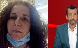 מימין - המראיין גיא לרר, משמאל - אמו של הנער עם תסמונת דאון