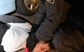 אלימות בהפגנה מול בית גנץ