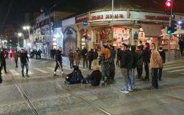 """הפגנה בירושלים במחאה על התאונה בה נהרג הנער אהוביה סנדק ז""""ל"""