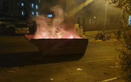 מתוך מחאת מפגיני הימין על מותו של אהוביה סנדק