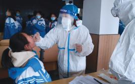 בדיקת קורונה בסין