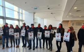 מחאת המשפחות בבית המשפט