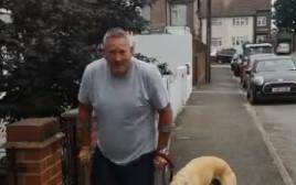 בילי הכלב צולע עם בעליו