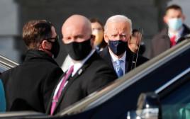 ג'ו ביידן מגיע לטקס ההשבעה