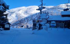 שלג באתר החרמון