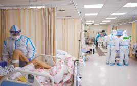 מחלקת קורונה בבית חולים בארץ