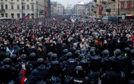 מחאות ברוסיה על מעצר נבלני