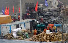 עבודות החילוץ במכרה הזהב בסין