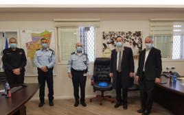 פגישת בכירי המשטרה עם ראש עיריית בני ברק