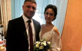 החתן והכלה רגעים ספורים לפני הרצח