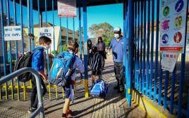 תלמידים חוזרים ללימודים, ארכיון (למצולמים אין קשר לנאמר בכתבה)