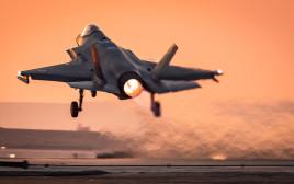 """מטוס קרב של חיל האוויר ממריא במסגרת תרגיל """"ורד הגליל"""""""