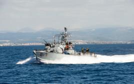 כלי שיט של חיל הים משתתף בתרגיל