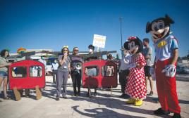 מחאה נגד פרויקט הרכבל לכותל