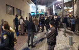 פיזור ההתקהלות בתל אביב