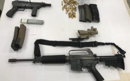 נשקים שנתפסו על ידי המשטרה