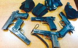 נשק לא חוקי שנתפס