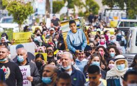 הפגנה בג'לג'וליה בעקבות רצח הנער מוחמד עדס