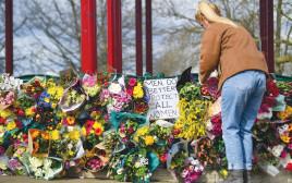 אתר הנצחה בלונדון בעקבות הרצח של שרה אוורארד