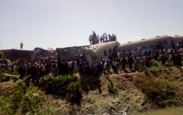 זירת תאונת הרכבות במצרים