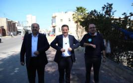 סמי אבו שחאדה (מימין), איימן עודה, אחמד טיבי