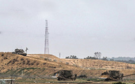 עבודות הנדסיות בגבול עזה