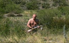 פוטין עם רובה ציד