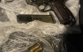 האקדח של חליל אגבריה שנתפס