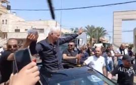 רושדי אבו מוך מתקבל בבאקה אל גרביה